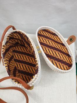 Oval Box Rattan Bag