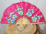 Hand Painted Satin Hand Fan 8