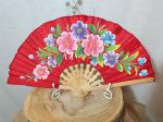 Hand Painted Satin Hand Fan 9